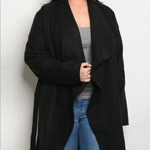Jackets & Blazers - PREORDER PLUS SIZE Black Jacket